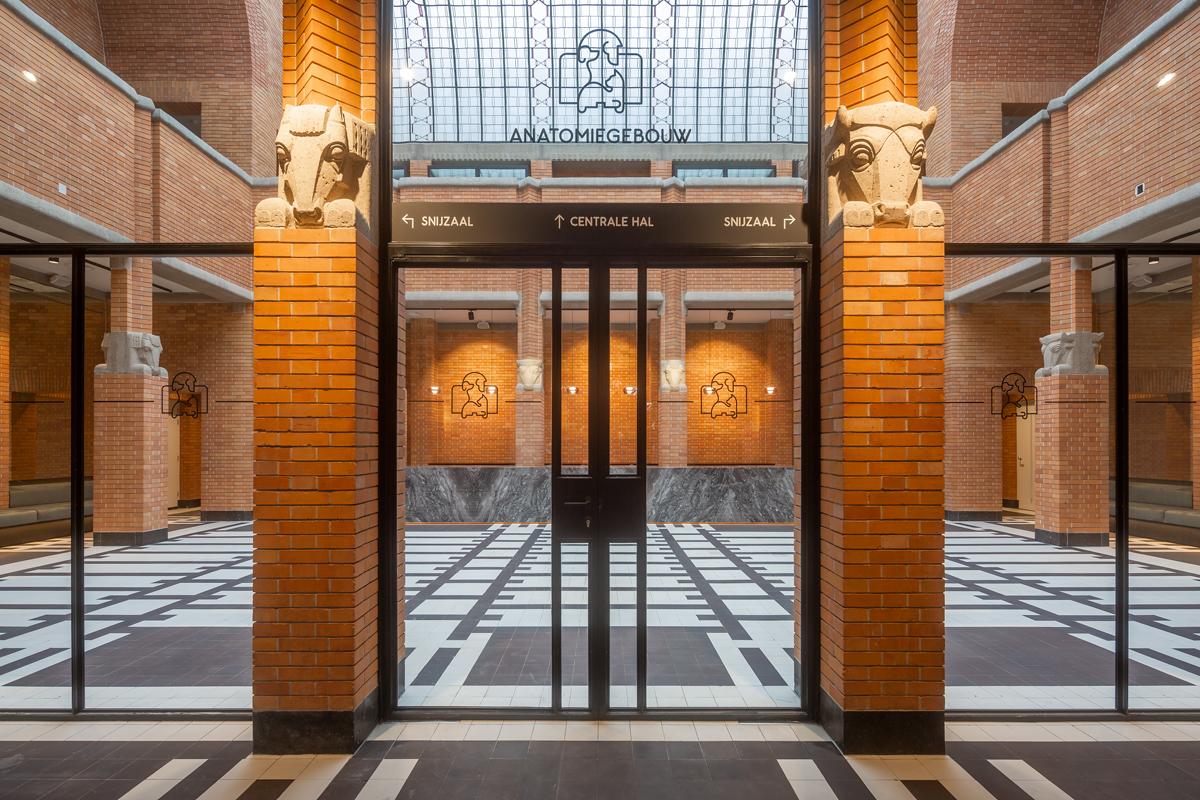 Rietveld Interieur Anatomiegebouw Utrecht hoofd